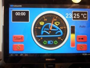 La tablette tactile de la voiture